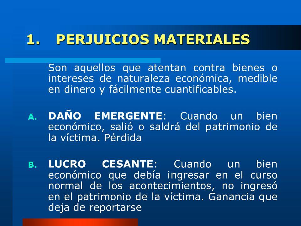 1. PERJUICIOS MATERIALES