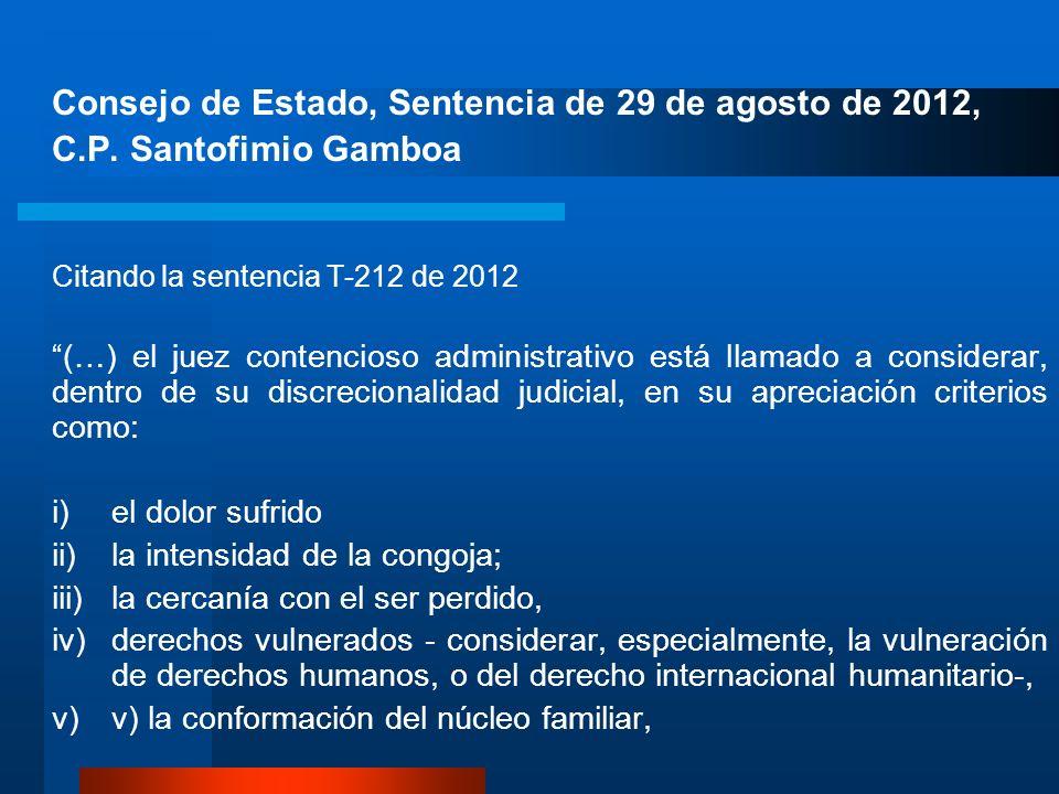 Consejo de Estado, Sentencia de 29 de agosto de 2012,