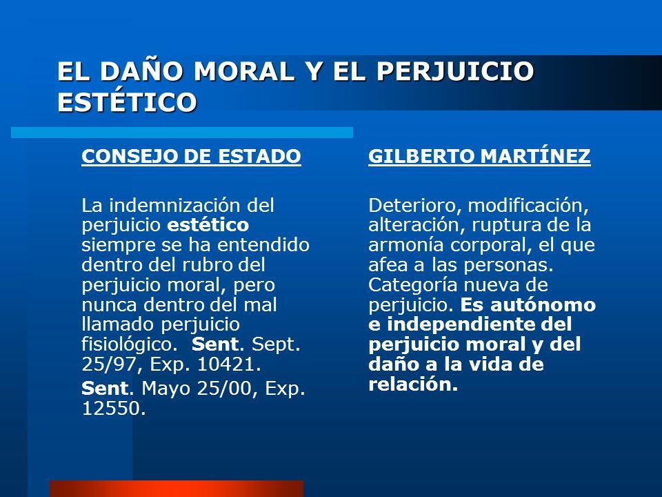 EL DAÑO MORAL Y EL PERJUICIO ESTÉTICO