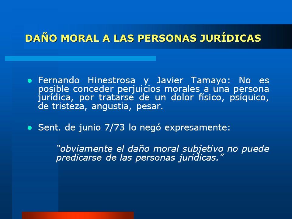 DAÑO MORAL A LAS PERSONAS JURÍDICAS
