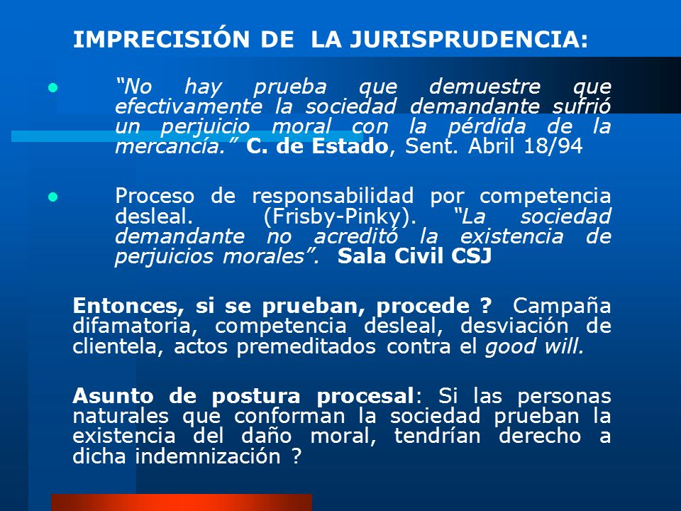 IMPRECISIÓN DE LA JURISPRUDENCIA: