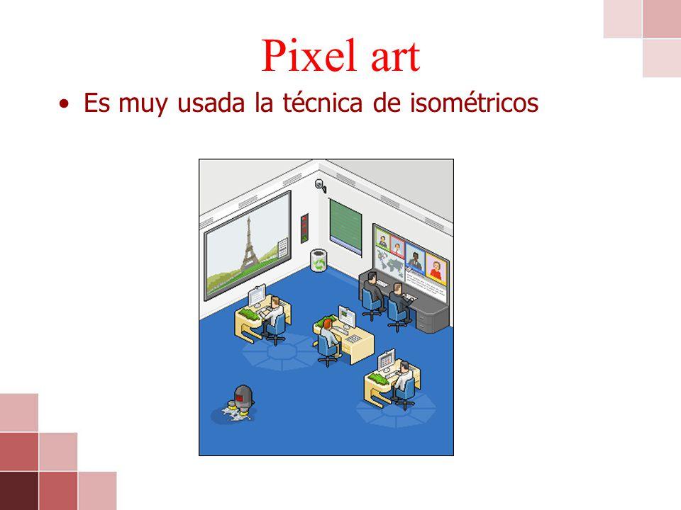 Pixel art Es muy usada la técnica de isométricos