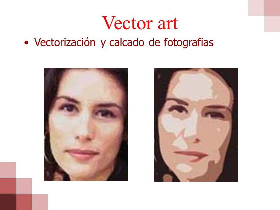 Vector art Vectorización y calcado de fotografias