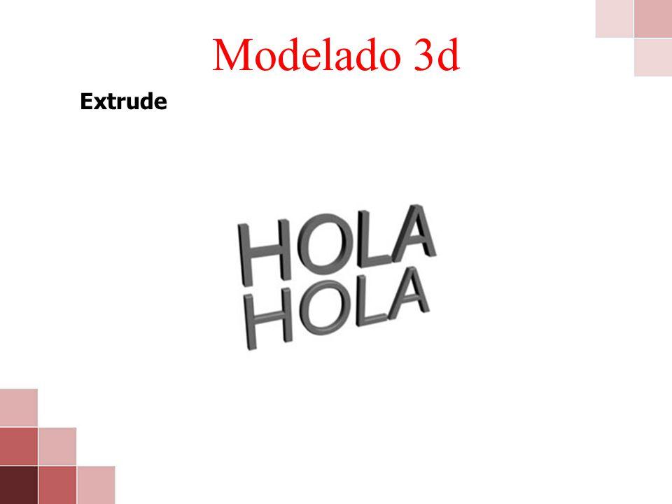 Modelado 3d Extrude