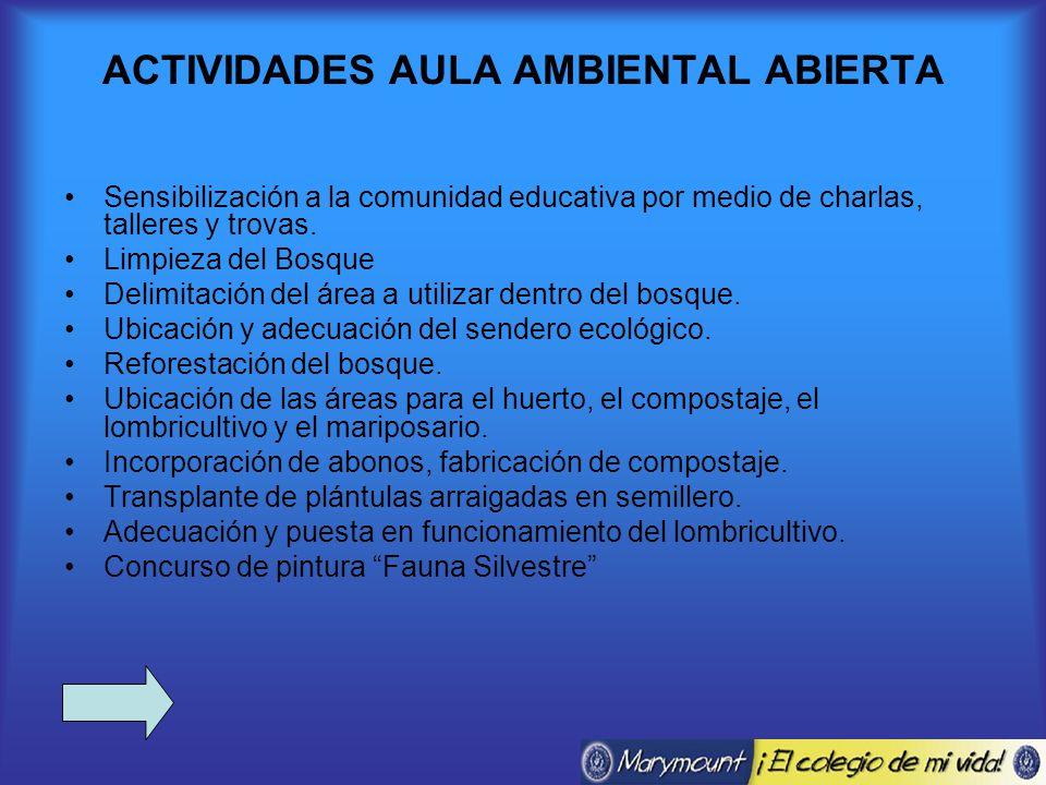 ACTIVIDADES AULA AMBIENTAL ABIERTA