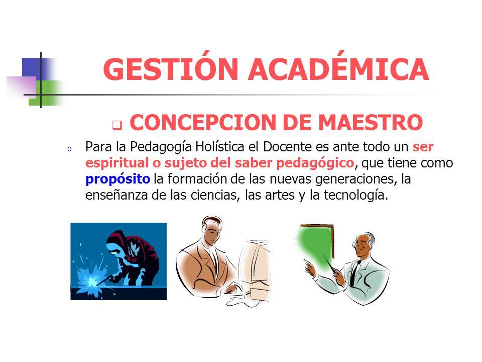 GESTIÓN ACADÉMICA CONCEPCION DE MAESTRO