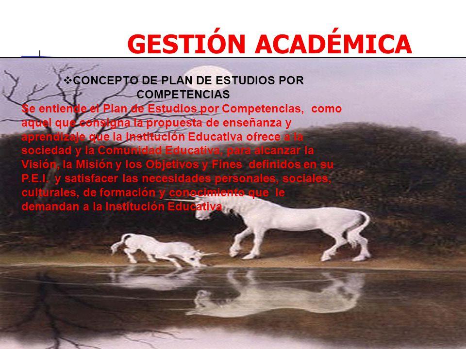 CONCEPTO DE PLAN DE ESTUDIOS POR COMPETENCIAS