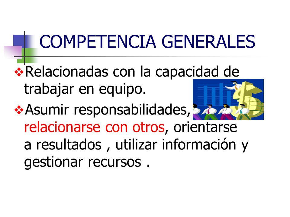 COMPETENCIA GENERALES