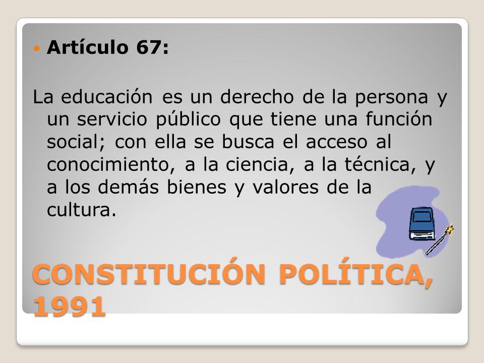 Constitución Política, 1991