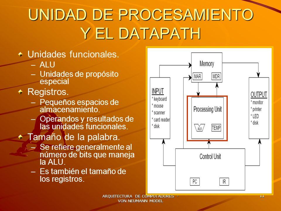 UNIDAD DE PROCESAMIENTO Y EL DATAPATH