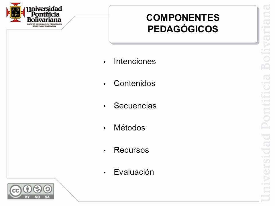 COMPONENTES PEDAGÓGICOS