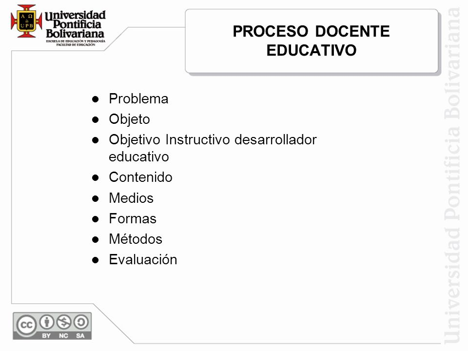PROCESO DOCENTE EDUCATIVO