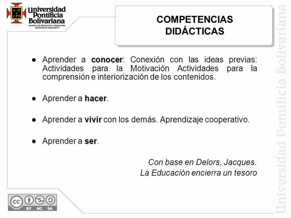 COMPETENCIAS DIDÁCTICAS