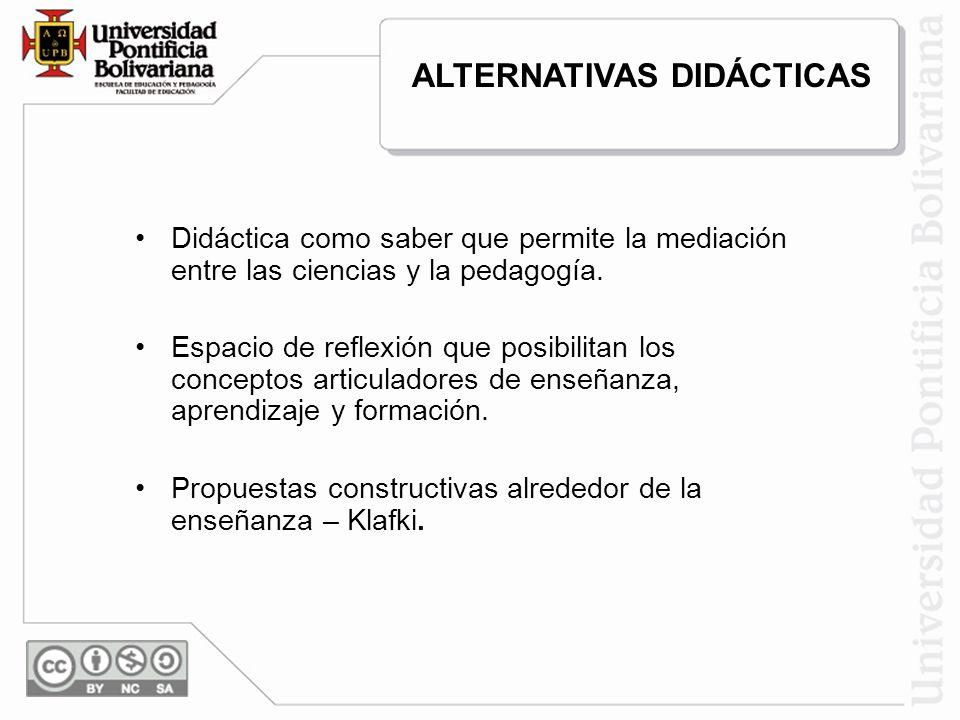 ALTERNATIVAS DIDÁCTICAS
