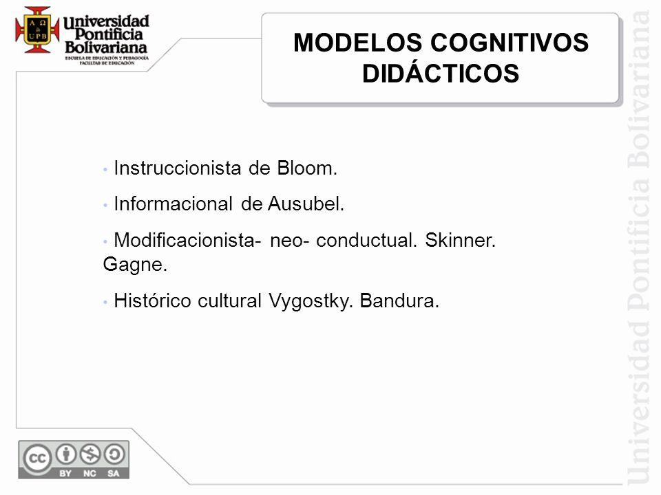 MODELOS COGNITIVOS DIDÁCTICOS