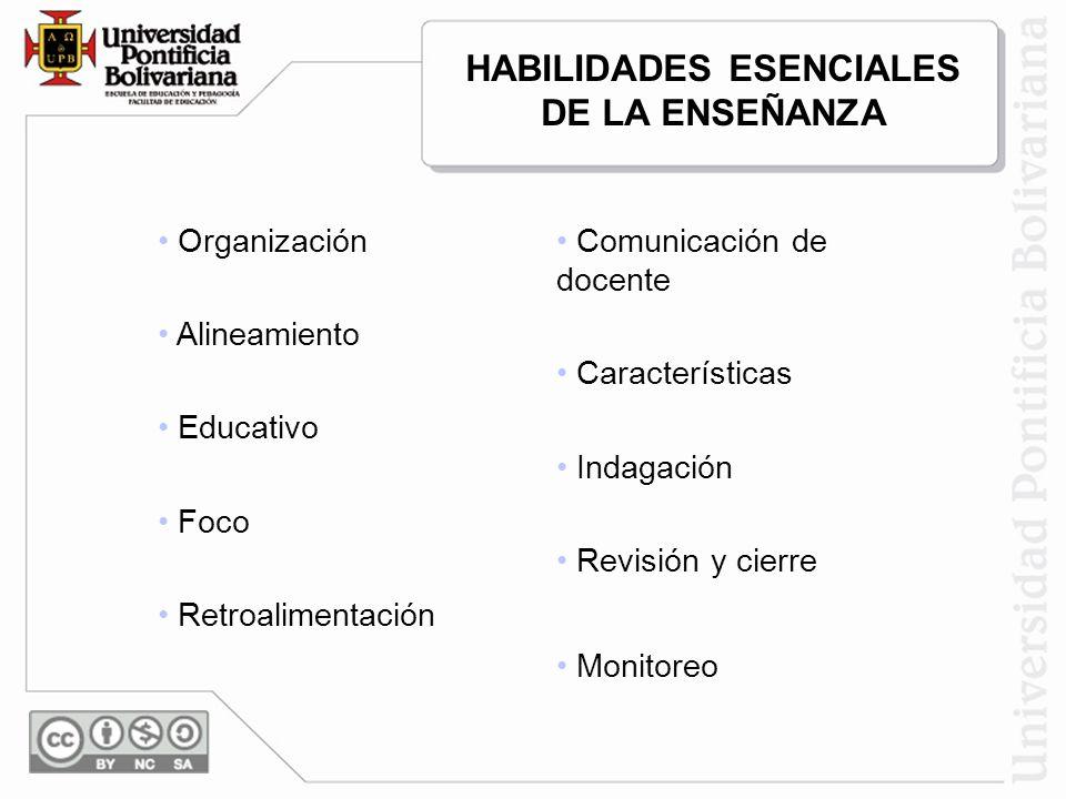 HABILIDADES ESENCIALES DE LA ENSEÑANZA