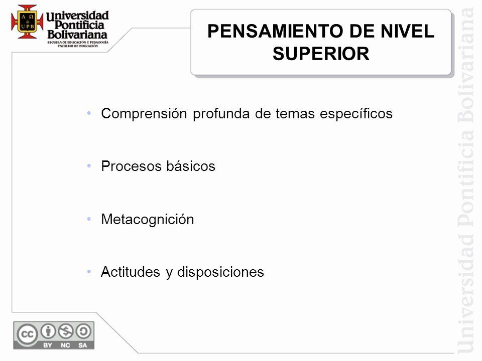 PENSAMIENTO DE NIVEL SUPERIOR