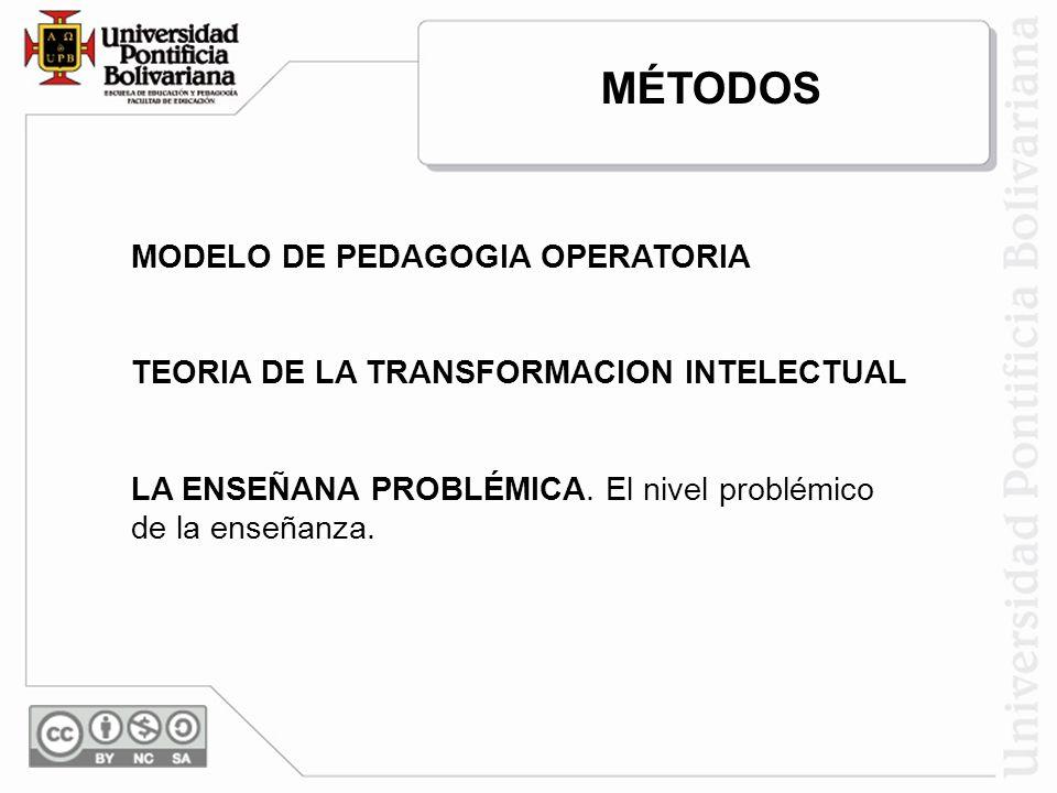 MÉTODOS MODELO DE PEDAGOGIA OPERATORIA