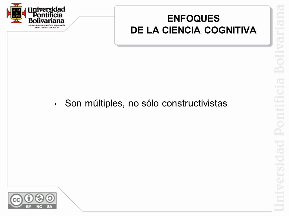 ENFOQUES DE LA CIENCIA COGNITIVA