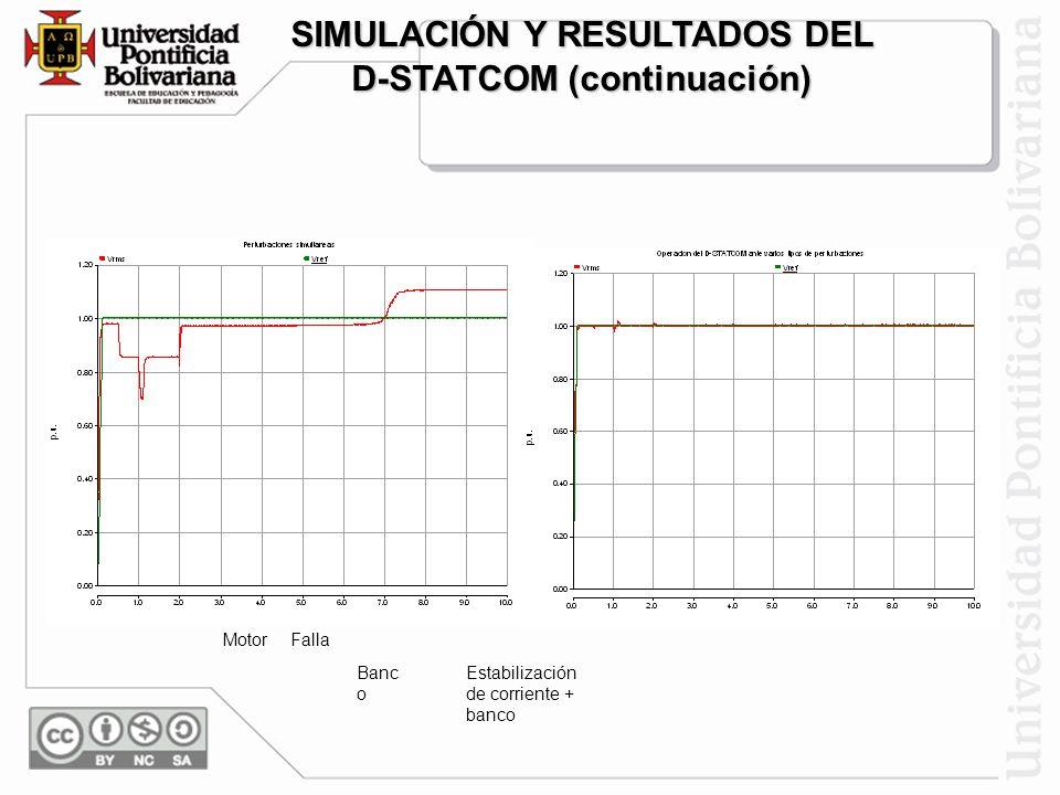 SIMULACIÓN Y RESULTADOS DEL D-STATCOM (continuación)