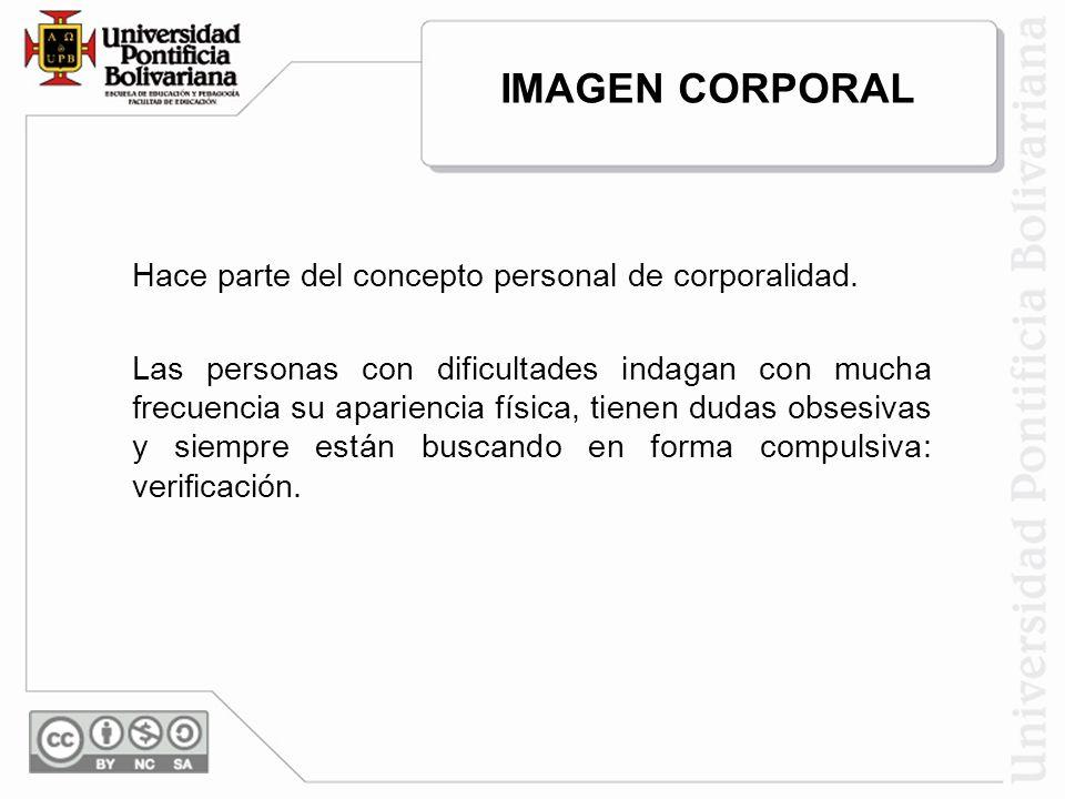 IMAGEN CORPORAL Hace parte del concepto personal de corporalidad.