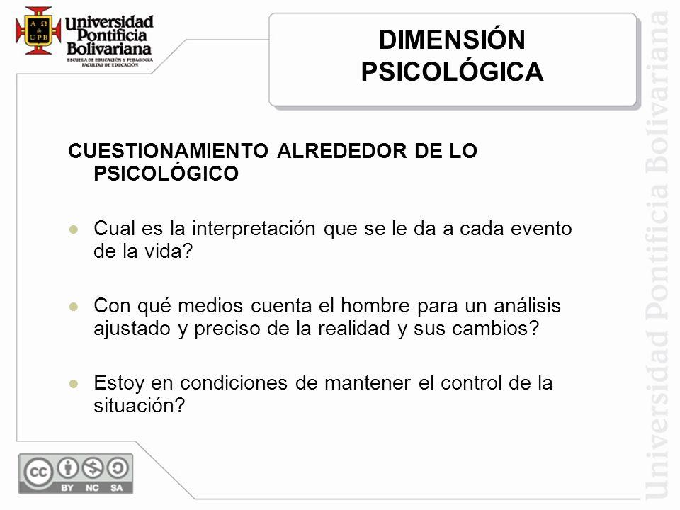 DIMENSIÓN PSICOLÓGICA