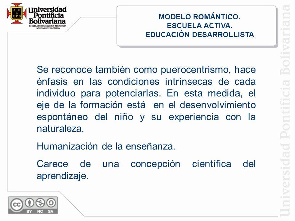 EDUCACIÓN DESARROLLISTA