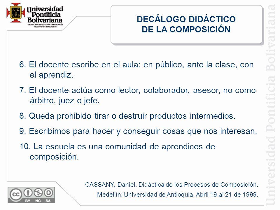 DECÁLOGO DIDÁCTICO DE LA COMPOSICIÓN