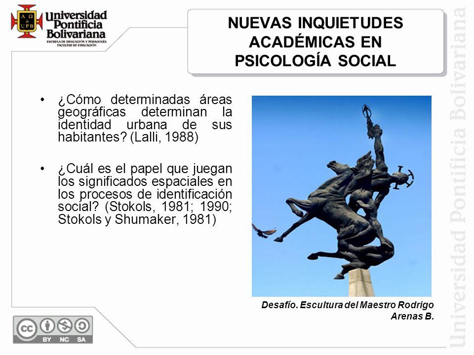 NUEVAS INQUIETUDES ACADÉMICAS EN PSICOLOGÍA SOCIAL