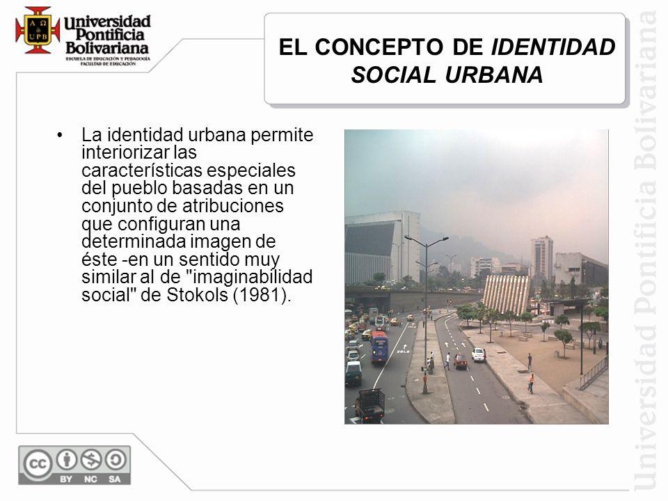 EL CONCEPTO DE IDENTIDAD SOCIAL URBANA