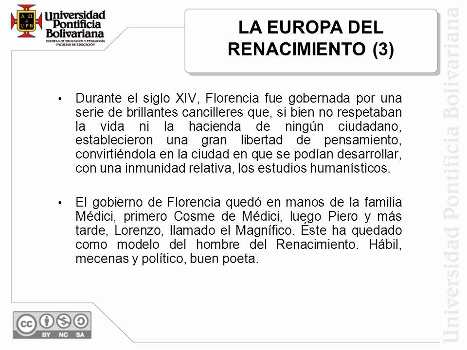 LA EUROPA DEL RENACIMIENTO (3)