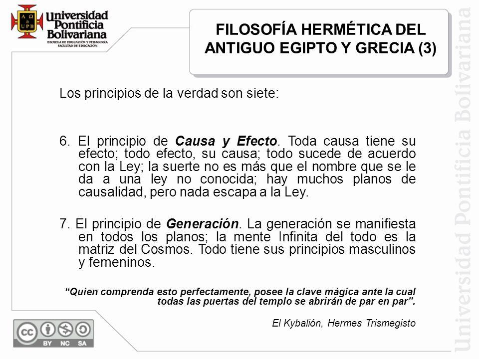 FILOSOFÍA HERMÉTICA DEL ANTIGUO EGIPTO Y GRECIA (3)