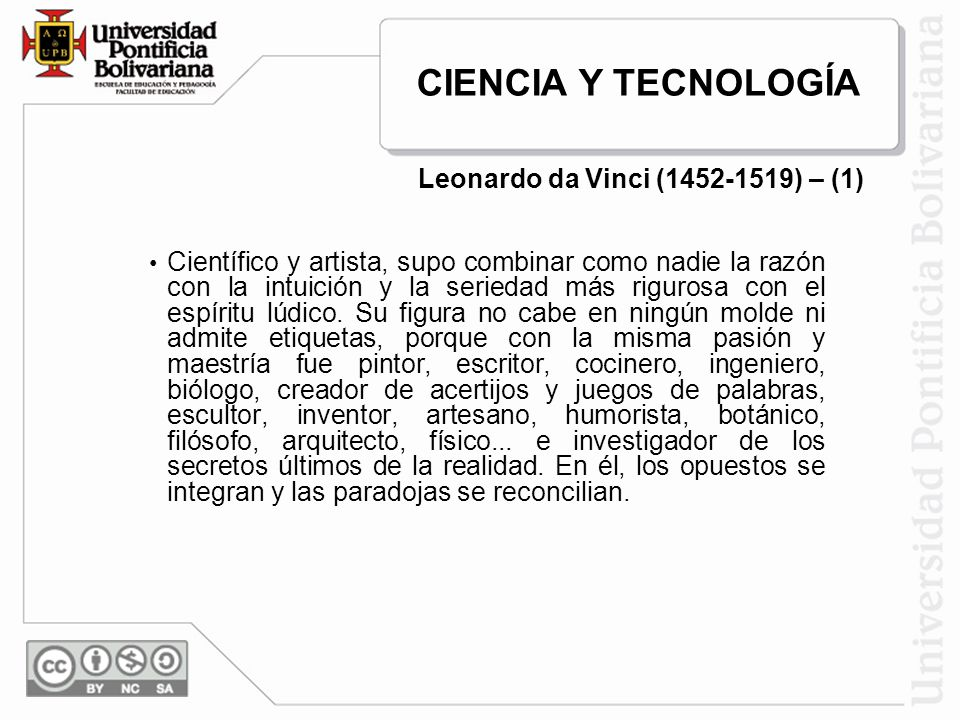 Leonardo da Vinci (1452-1519) – (1)