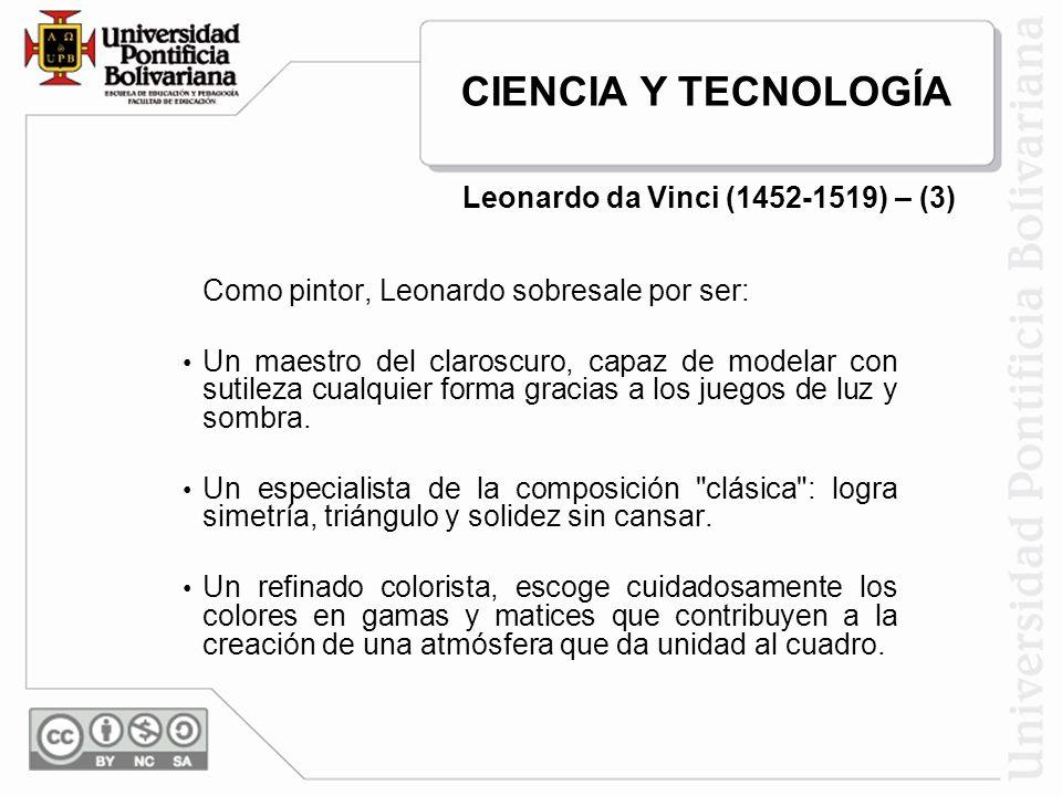 Leonardo da Vinci (1452-1519) – (3)