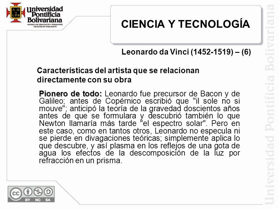 Leonardo da Vinci (1452-1519) – (6)