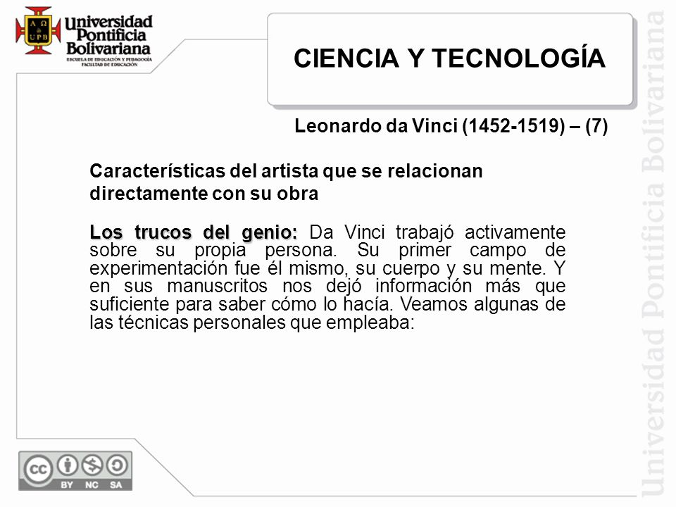 Leonardo da Vinci (1452-1519) – (7)