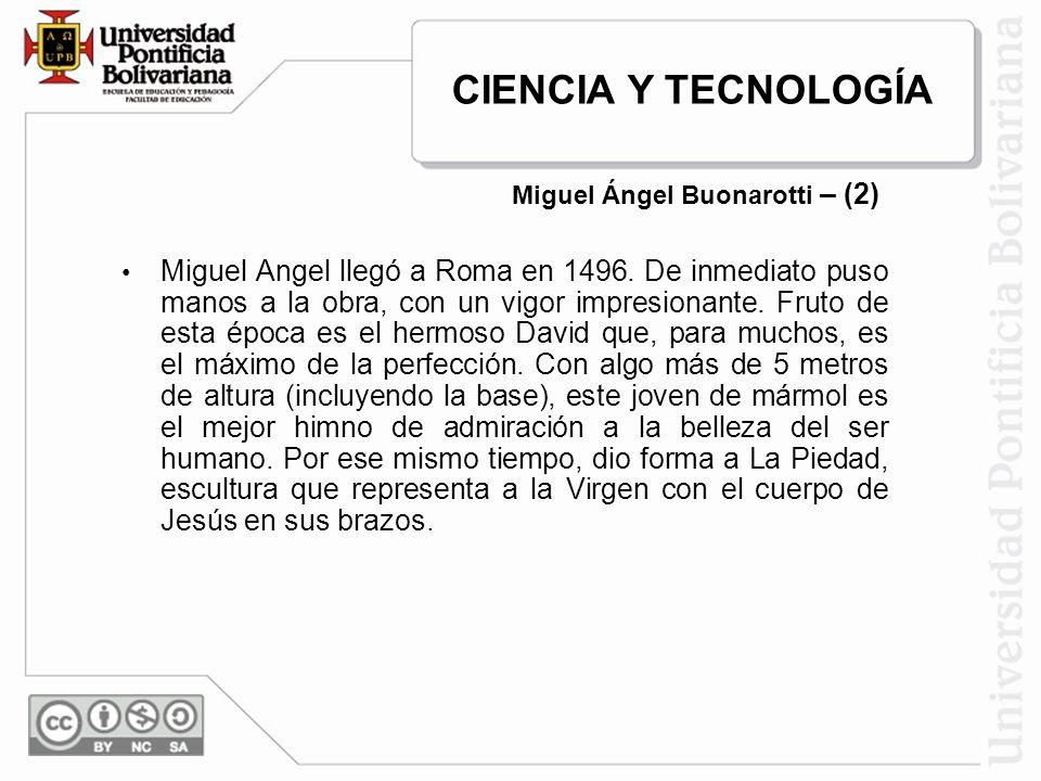 Miguel Ángel Buonarotti – (2)