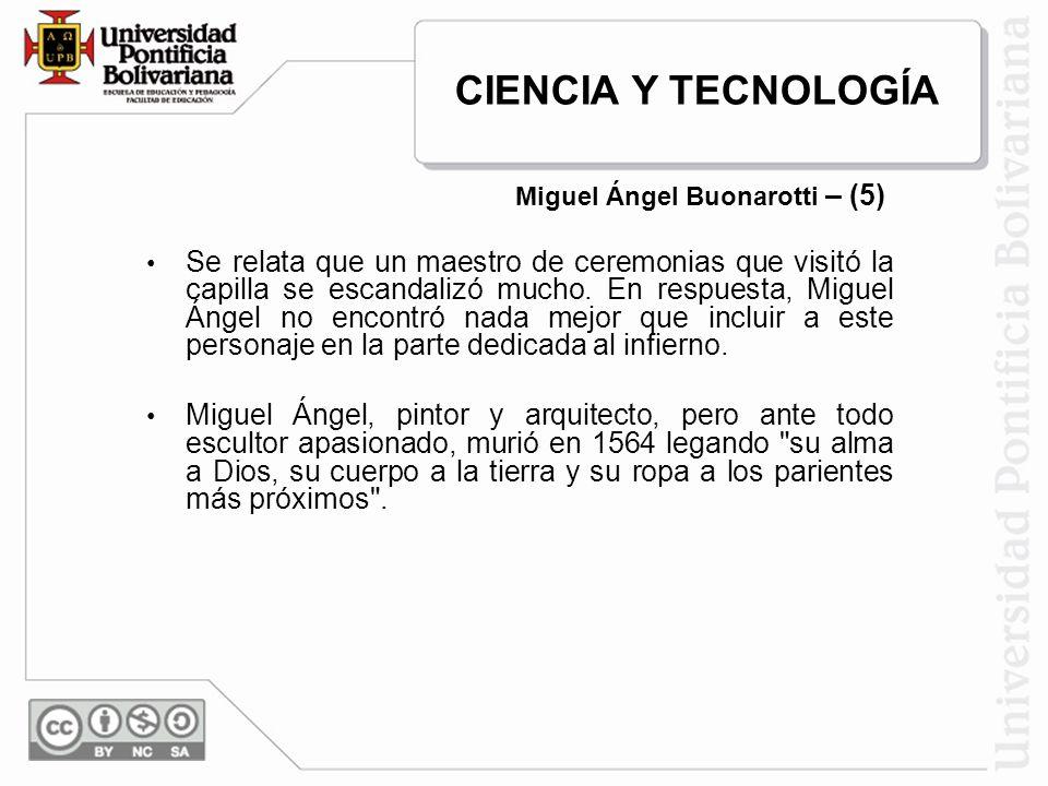 Miguel Ángel Buonarotti – (5)