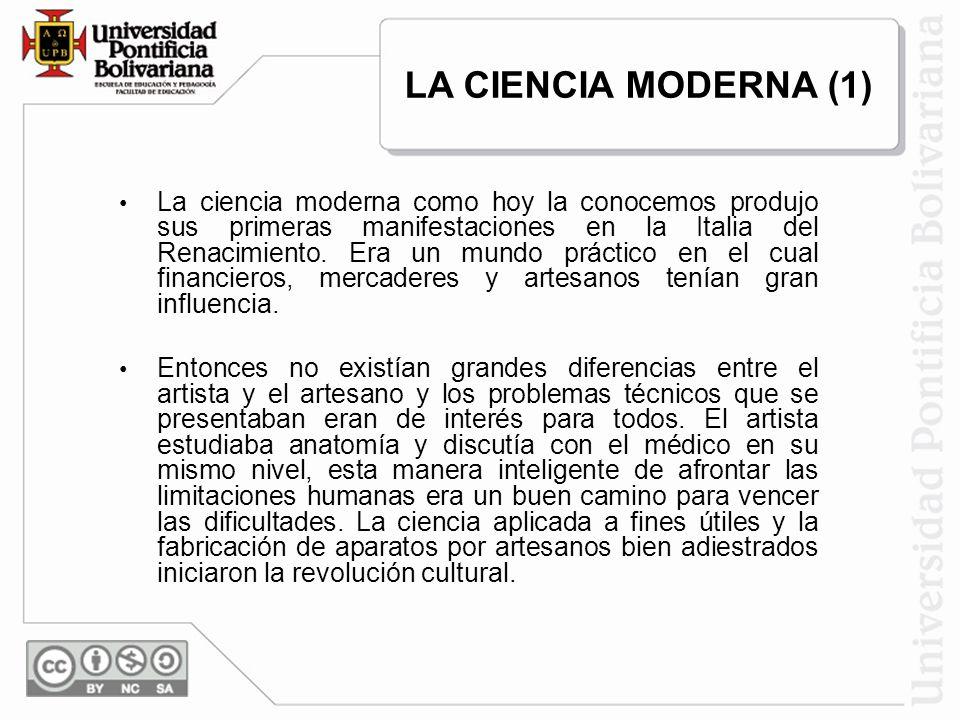 LA CIENCIA MODERNA (1)