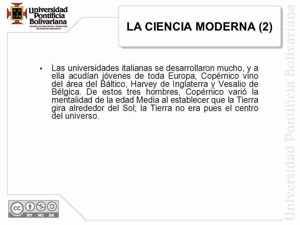 LA CIENCIA MODERNA (2)