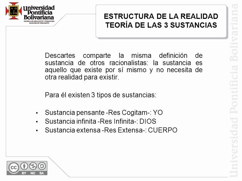 ESTRUCTURA DE LA REALIDAD TEORÍA DE LAS 3 SUSTANCIAS