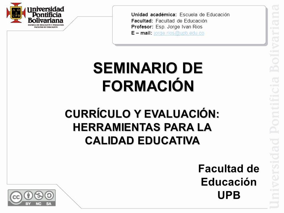 SEMINARIO DE FORMACIÓN