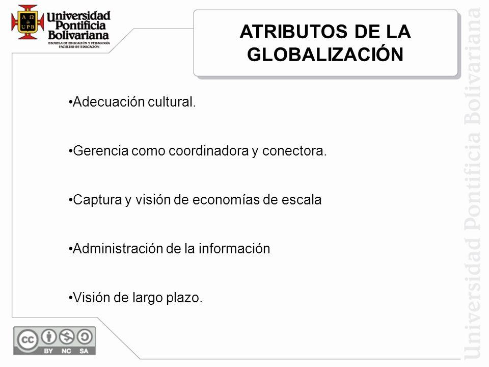 ATRIBUTOS DE LA GLOBALIZACIÓN