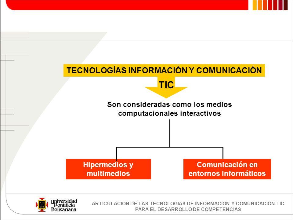 TIC TECNOLOGÍAS INFORMACIÓN Y COMUNICACIÓN