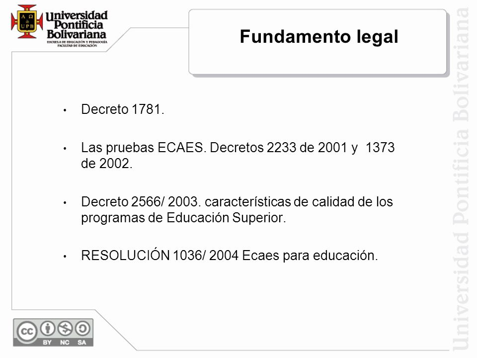 Fundamento legal Decreto 1781.