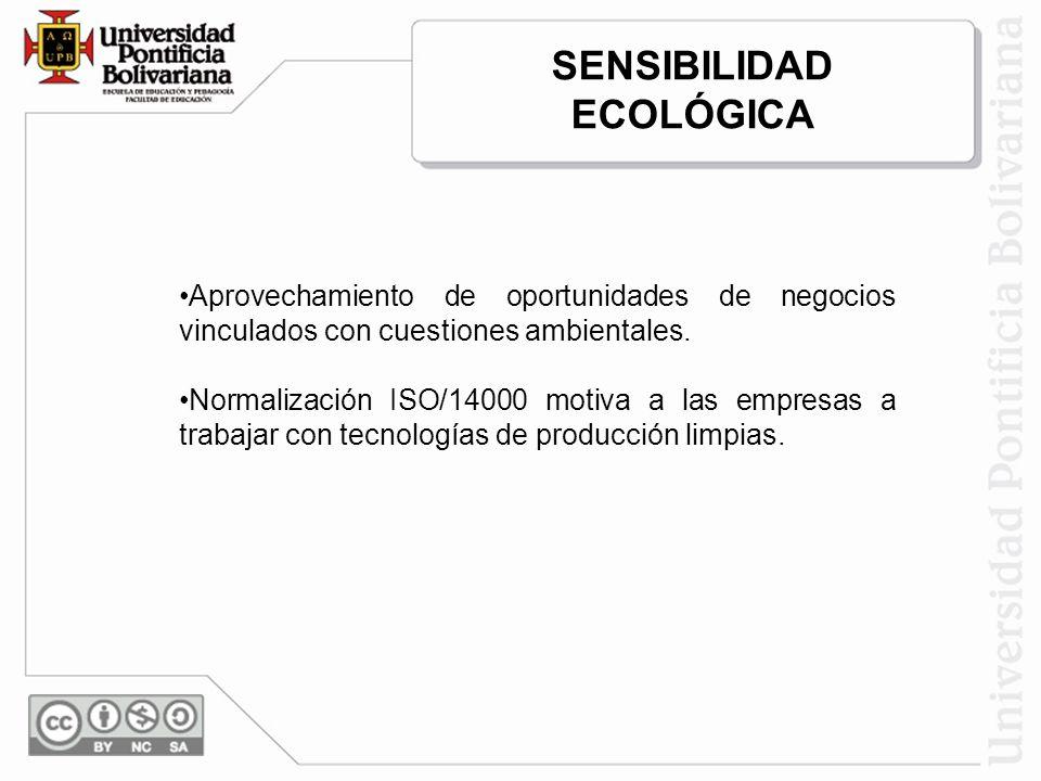 SENSIBILIDAD ECOLÓGICA
