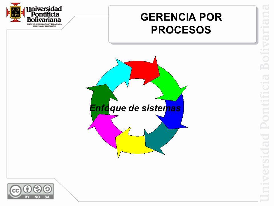 GERENCIA POR PROCESOS Enfoque de sistemas