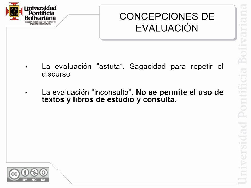 CONCEPCIONES DE EVALUACIÓN