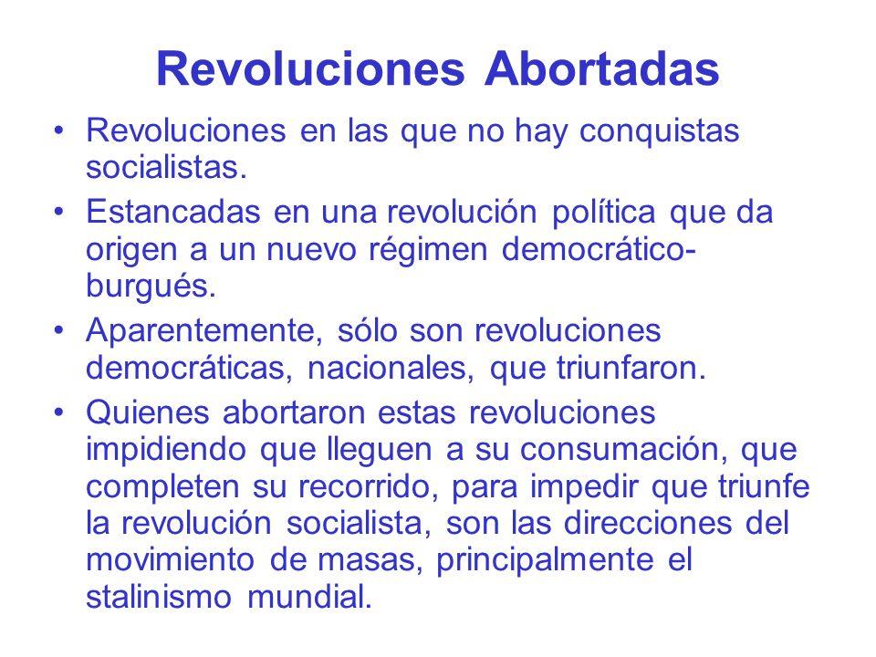 Revoluciones Abortadas