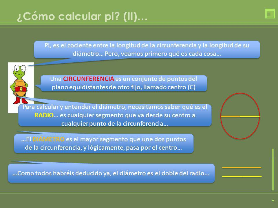 ¿Cómo calcular pi (II)…